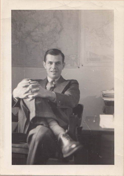Alger Hiss at State Dept office, 1940