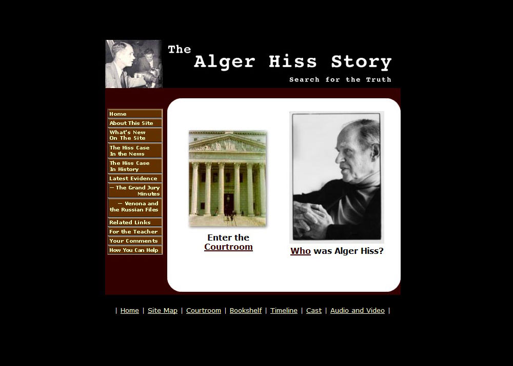 """The Alger Hiss Story"" website"